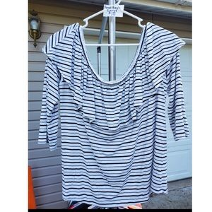 American Eagle off the shoulder ruffled top